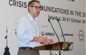 Robert Jensen Speaking at the IATA Crisis Communications in the age of Social Media