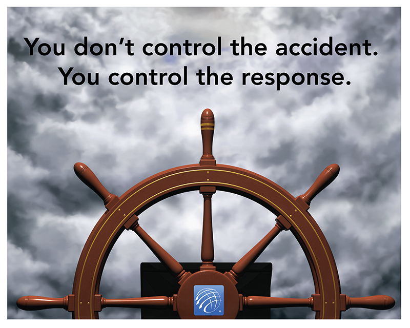 You don't control the accident, you control the response.